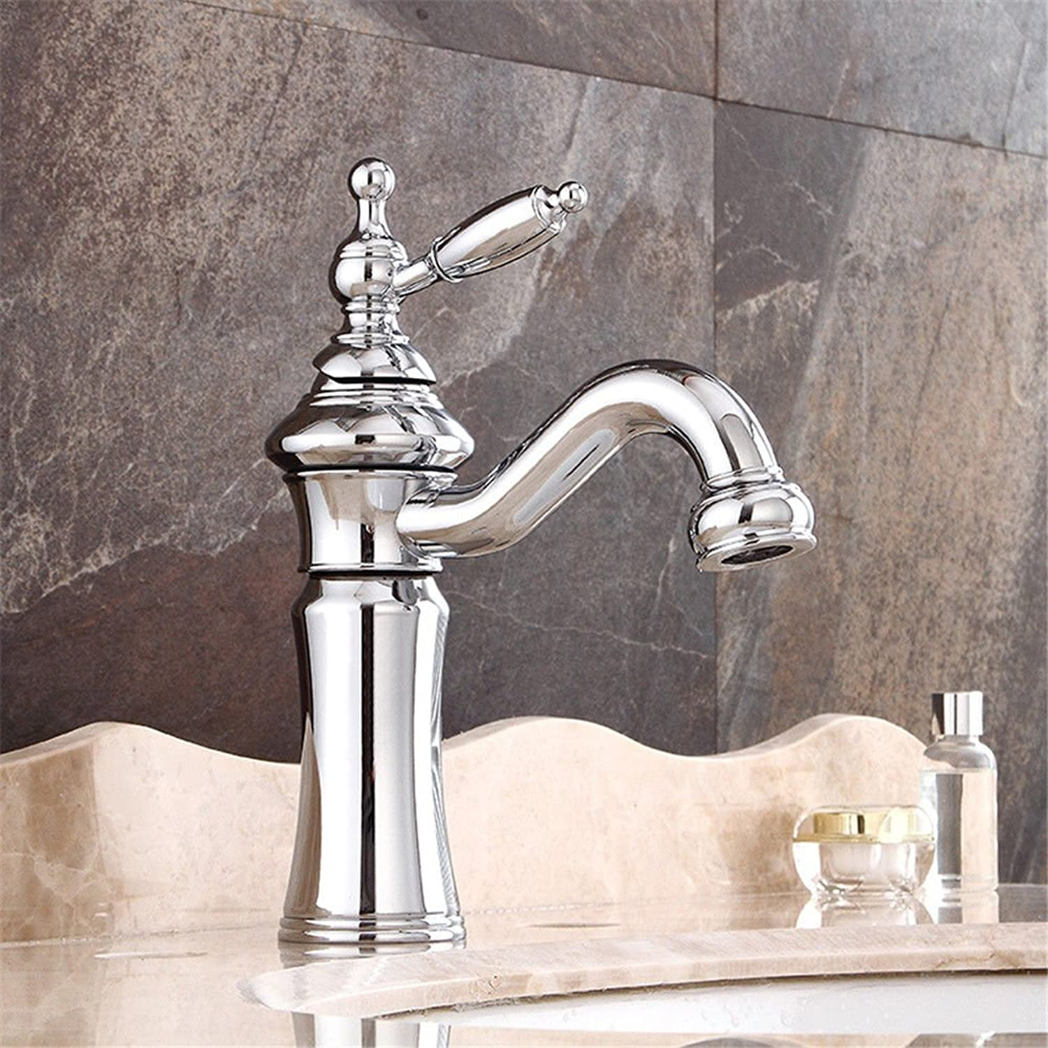 ETERNAL QUALITY Bathroom Sink Basin Tap Brass Mixer Tap Washroom Mixer Faucet The rise in water faucet antique hotel basin faucet full copper fittings Kitchen Sink Taps