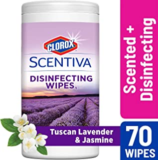 Clorox Scentiva Disinfecting Wipes, Bleach Free Cleaning Wipes - Tuscan Lavender and Jasmine, 70 Count