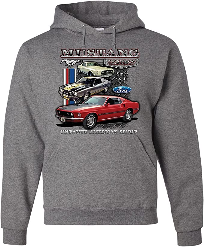 Tee Hunt Ford Mustang Classics Muscle Shirt Muscle Car Untamed American Spirit Sleeveless