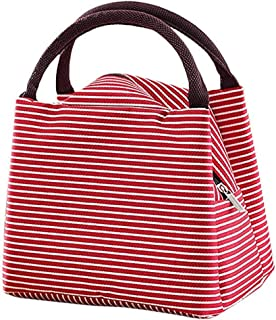 Reusable Lunch Bag Tote Bag Waterproof Lunch Holder Container Organizer (Red) (Blue)