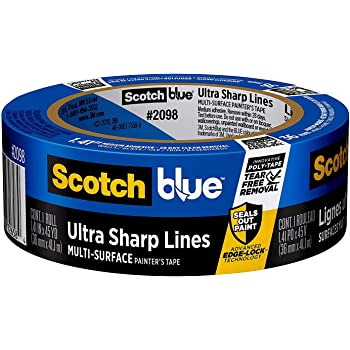 ScotchBlue Ultra Sharp Lines Multi-Surface Painter's Tape, 1.41 inches x 45 yards, 2098, 1 Roll