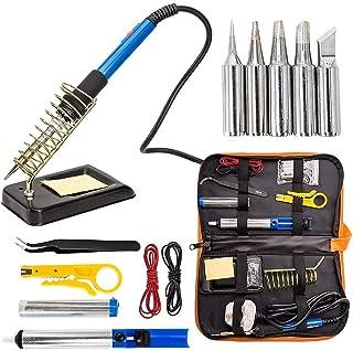 Kit de herramienta de soldadura soldador de 60W temperatura ajustable electrónica para soldador pistola kits con