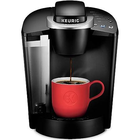 Keurig K-Classic Coffee Maker, Single Serve K-Cup Pod Coffee Brewer, 6 to 10 Oz Brew Sizes, Black (Renewed)
