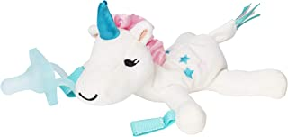 Dr. Brown's Lovey Pacifier and Teether Holder, 0 Months+, Unicorn with Teal
