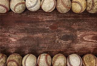 AOFOTO 7x5ft Baseball Ball On Wooden Board Background Dirt Hardball Vintage Photography Backdrop Batter Pitcher Hit Batting Catcher Sports Athletic Player Match Game Photo Studio Props Child Portrait