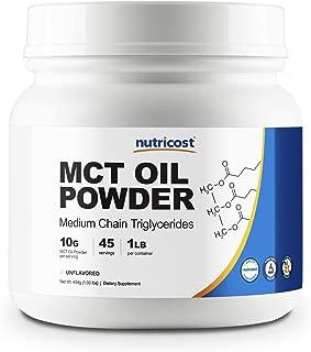 Nutricost MCT Oil Powder 1LB (16oz) - Great for Keto, Ketosis and Ketogenic Diets - Zero Net Carbs, Non-GMO + Gluten Free (Medium Chain Triglyceride)