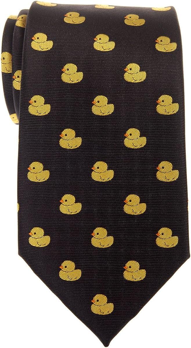 Retreez Classic Rubber Duck Woven Microfiber Men's Tie Necktie