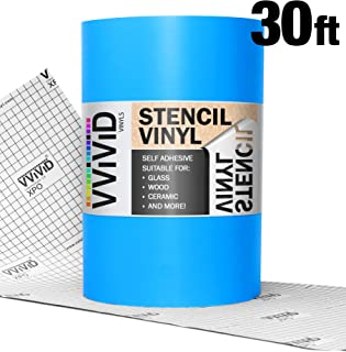 VViViD Blue Low-Tack Adhesive Vinyl Stencil Masking Film Roll (24in x 30ft)