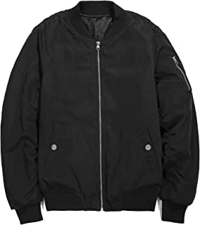 MA-1 中綿 防寒 メンズ アウター 厚手 ブルゾン ジャケット フライトジャケット ミリタリージャケット 春 ジャンパー コート ma1 ジャンバー スナップボタン (4カラー / 4サイズ) Le ciel clair (ルシェルクレール)