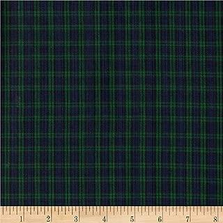 Textile Creations Classic Yarn-Dyed Tartan Plaid Blackwatch Blue/Green Fabric By The Yard
