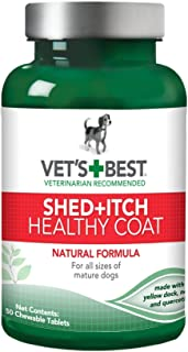 Vet's Best Healthy Coat Shed & Itch Relief Dog Supplements | Relieve Dogs Skin..