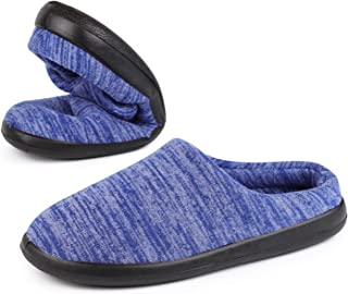VeraCosy Men's Soft Knitted Ultra Light Weight Slippers