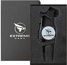 Extreme Hawk Golf Divot Repair Tool – 7 in 1 Multipurpose Golf Tool – Lightweight and Compact Golf Tool Set – Golden Silve...