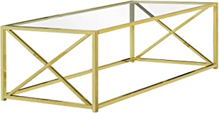 Monarch Specialties 3444 Coffee Table, Gold