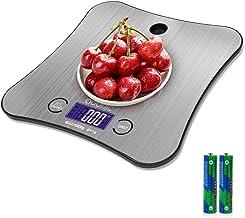 ADORIC Balance Cuisine Electronique Balance de Précision 5kg/1g, Acier Inoxydable Tactile Sensible, Écran LCD Grande Taill...