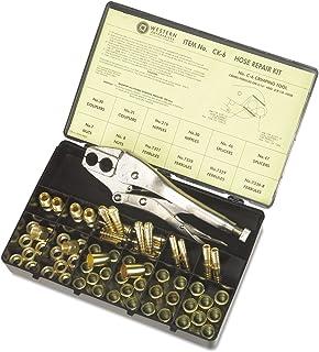 Western Enterprises CK-6 Other Hose Repair Kits, Fittings, Crimping Tool, Full Color Label/Description Chart, 0.5 Length, ...
