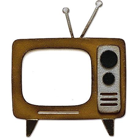 Sizzix Matrice de decoupe Bigz Rétro TV par Tim Holtz, 665371, Multicolore, taille unique