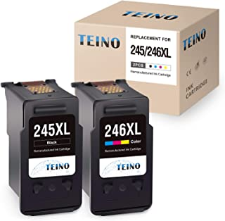 TEINO Remanufactured Ink Cartridge Replacement for Canon 245XL 246XL PG-245XL CL-246XL PG-243 Use with Canon PIXMA MG2520 MG2920 MG2922 MG2420 MG2522 TS3120 MG3022 MX490 MX492 (1 Black, 1 Tri-Color)