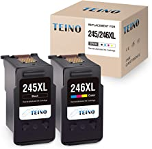 TEINO Re-Manufactured Ink Cartridge Replacement for Canon 245XL 246XL PG-245XL CL-246XL PG-243 Use with Canon PIXMA MG2520 MG2920 MG2922 MG2420 MG2522 TS3120 MG3022 MX490 MX492 (1 Black, 1 Tri-Color)