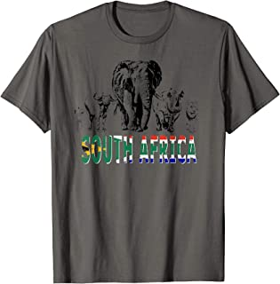 Big Five South African Pride T-shirt for Wildlife Lovers