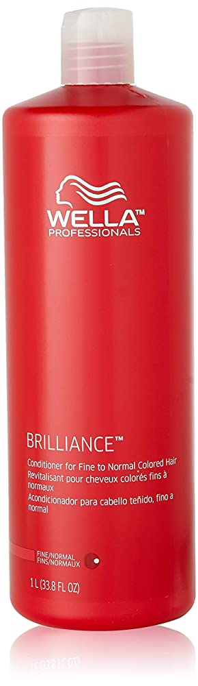 どれでもビーチ声を出してWella Brilliance Conditioner for Fine To Normal Hair for Unisex, 33.8 Ounce by Wella