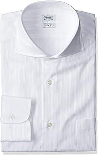 [フェアファクス] サテンストライプムジ柄カッタウェイカラーシャツ メンズ 6709CW