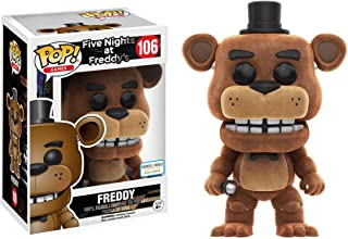 Funko Freddy [Flocked] (B&N Exclusive): Five Nights at Freddy's x POP! Games Vinyl Figure & 1 POP! Compatible PET Plastic Graphical Protector Bundle [#106 / 12019 - B]