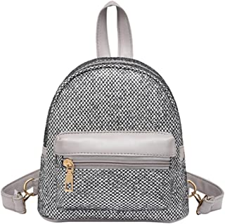 Start_wuvi Women Exquisite Fashion Bling Sequins Mini Backpack Female Travel Rucksack Zipper School Bag Highlight The Noble Elegant Sexy And Charm Of Women Most Popular Best Gift (Black)