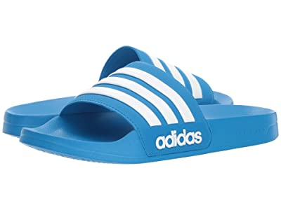 adidas Adilette Shower (Bright Blue/White/Bright Blue) Men