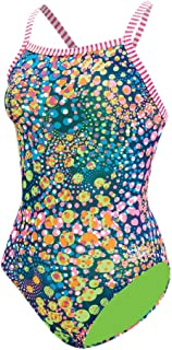 Dolfin Girls Uglies V-2 Back Swimsuit (Light Bright, 24)