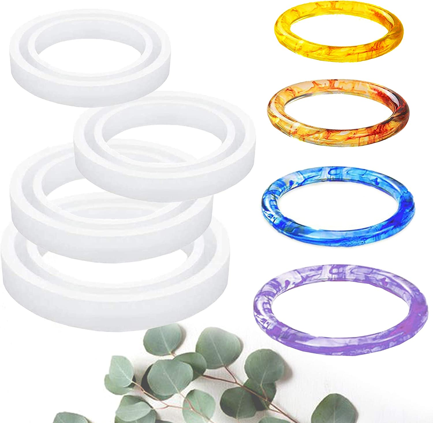 Bracelet Mold Special Campaign Round Silicone Mould Brand new Re Crystal DIY Epoxy for