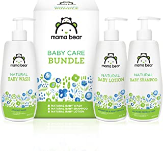 Amazon Brand - Mama Bear Combo (Wash 400 ml, Shampoo 400 ml, Lotion 400 ml)