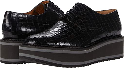 Black Crocodile Calfskin