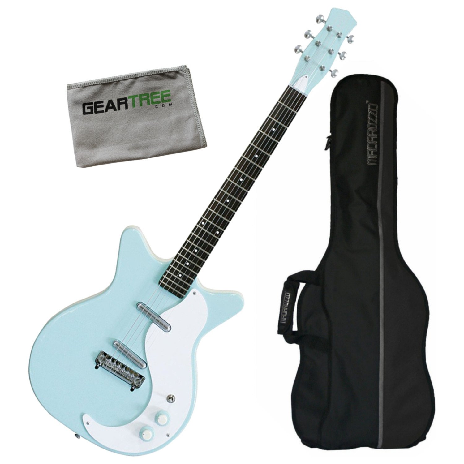 Cheap Danelectro 59M-NOS+ Double Cutaway Electric Guitar Aqua w/Gig Bag and Geartree Black Friday & Cyber Monday 2019