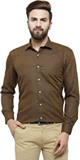 RG Designers Gold Solid Slim Fit Full Sleeve Cotton Formal Shirt