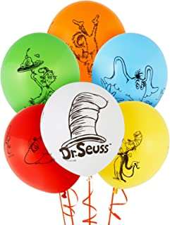 BirthdayExpress Dr Seuss Cat in The Hat Party Supplies - Themed Latex Balloon