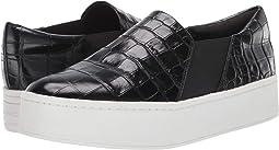 Black Croc Embossed Leather
