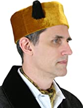 Historical Emporium Men's Velvet Quilted Smoking Cap