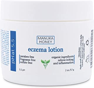 Eczema Cream Moisturizer for Face Hands & Body - Natural & Organic Ingredients with Manuka Honey - Hypoallergenic Moisturizer for Dry and Itchy Skin - Atopic & Dyshidrotic Eczema Relief Cream (2 oz)