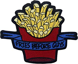 Fries Before Guys Chips Embroidered French Fries Badge Iron On Sew On Patch