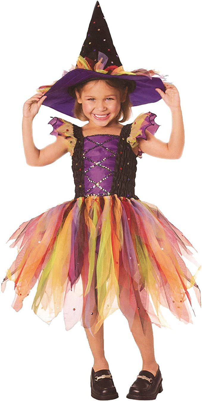 Infant Rubies Baby Girls Purple and Black Witch Costume As Shown