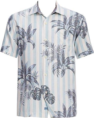Tommy Bahama - Camisa de Seda para Hombre, diseño de Palmeras ...