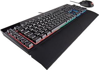 Corsair K55 RGB - Teclado Gaming (retroiluminación multicolor RGB, QWERTY) + Corsair HARPOON RGB - Ratón óptico para juegos (retroiluminación RGB Multicolore, 6000 DPI)