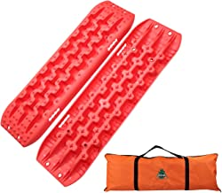 Boar Offroad New Recovery Traction Tracks Sand Mud Snow Track Tire Ladder 4WD (Orange)