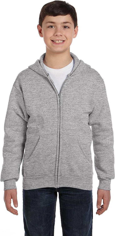 Hanes Full Zip Hoodie Sweatshirt (P480) Light Steel, XL
