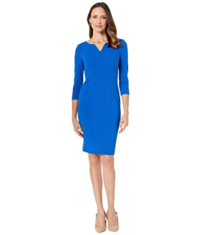 Calvin Klein Seam Detail Dress with 3/4 Sleeve (Capri) Women
