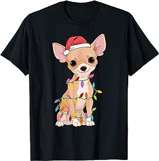 Chihuahua Dogs Tree Christmas Sweater Xmas Gifts Pet Dog T-Shirt