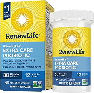 Renew Life Adult Probiotics 30 Billion CFU Guaranteed, 12 Strains, For Men & Women, Shelf Stable, Gluten Dairy & Soy Free,...