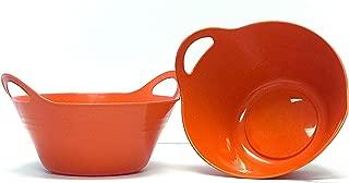 orange plastic bowl
