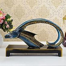 XINHU Office Desktop Decoratie, schapen hoofd decoratie, Opening Housewarming New Home Gift (Color : Antique gold)